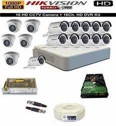 Hikvision Full Hd 2mp Cameras 11 Bullet Cameras 5 Dome Cameras Combo Kit