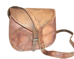 Designer Cut PiecesLeather Messenger Bag