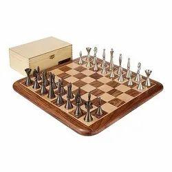 16 Brass French Chess Set