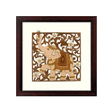 Up Trunk Elephant Wood Paintings, Size: 10 X 10 Inch