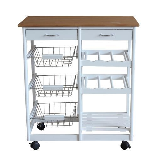White Kitchen Trolley kitchen trolley - 3 tier kitchen storage trolley manufacturer from