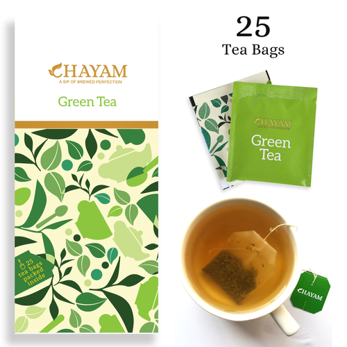 CHAYAM 12 Month Green Tea Bags, Packaging Size: 25 Tea Bags, Pack Size: 25 Sachets-tea Bags
