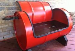 Steel Drum Sofa