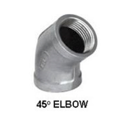 SS 45 Degree Elbow, Structure Pipe