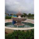 Cream Decorative Water Fountain