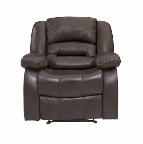 Dark Brown Pvc Inpro Recline Sofa Chair