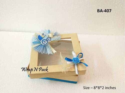 Favor Boxes For Baby Announcement Birthday Wrap N Pack New