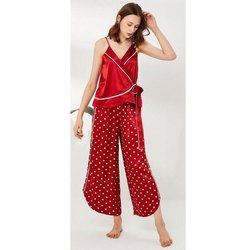 Satin Ladies Red Night Suit