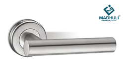 Glossy Finished Pipe Casted Range Mortise Handle AHM-30