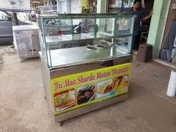 Nature Aqua Metal and Glass SS Snacks Counter, For Commercial