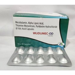 Mecobalamin,Alpha Lipoic Acid,Thiamine Mononitrate, Pyridoxine Hydrochloride And Folic Acid Capsules