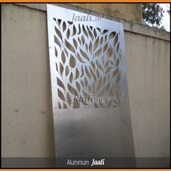 Metal CNC Cutting Leaves Design Aluminium Jali For Garden, For Industrial, Packaging Type: Plastic Wrapped