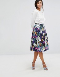 Printed Skirt With Top