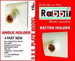 Plastic White Bulb Holder