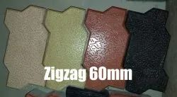 Allmark Cement Zig Zag Bricks 60 mm, For Industry, Packaging Type: Box
