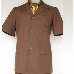 Brown Plain Safari Suit