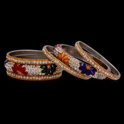 Multicolor Wedding Designer Bangle Set