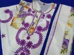 Multicolor Salawar Chikan Salwar Suit, Machine wash