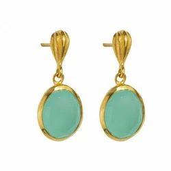 Aqua Chalcedony Beautiful Earring