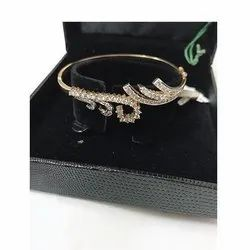 Party Wear Diamond Bracelet With Box