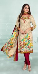 Formal Wear Mirror Work Ladies Cotton Unstitched Churidar Salwar Kameez