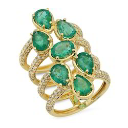 Ladies Diamond Emerald Rings