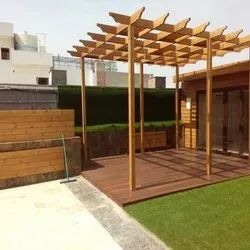 Thermo Pine Wood Garden Wooden Pergola