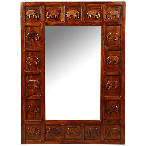 Sheesham Wood Frame Mirror Size Dimension 2 Feet X 3