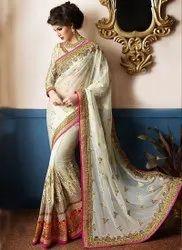 Banglori Silk Bead Work Saree