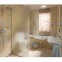L Shape Saint Gobain Design Series Patterned Shower Cubicle