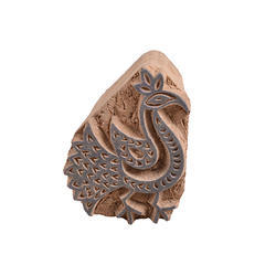 Wooden Peacock Printing Blocks