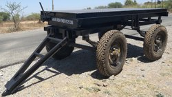 Mild Steel Four-Wheel Trolley For Generators, For Industrial, Load Capacity: 2000 kg
