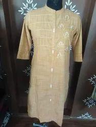 Casual Wear Straight Royal Cotton Kurti, Wash Care: Machine Wash