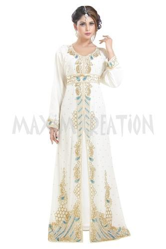 e2533fff90b Maxim Creation Cream Djellaba Evening Wear Home Gown