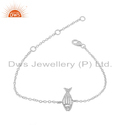 New Fish Design 925 Sterling Fine Silver Womens Chain Bracelet