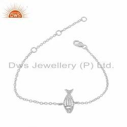 New Fish Design 925 Sterling Fine Silver Womens Chain Bracelet