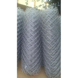 Galvanized Iron (GI) Variou Chain Link Fencing, For Boundry, Size: Various