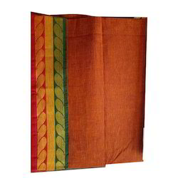 Bordered Party Wear Cotton Saree, With Blouse