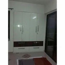 PVC Double Door Wooden Wardrobe