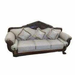 Modern Three Seat Wooden Fancy Sofa, Living Room