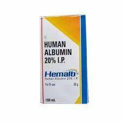 Hemalb Human Albumin 20% IP
