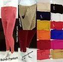 12 Colors Available Slub Rayon Stretchable Cotton Bundi Potli Button Pants, Waist Size: L To 2xl
