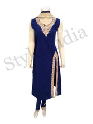 Ladies Embroidered Western Dress