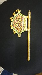Gold Plated Hand Fan Meena