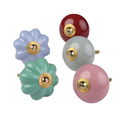 Colorful Home Decor Designer Door Knob Set of 25