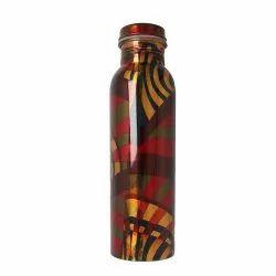 950ml Printed Copper Bottle, Screw Cap