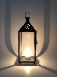 Clear Candle Lamp