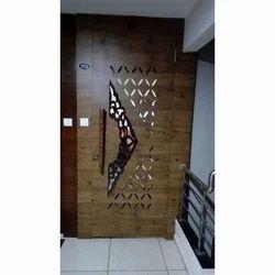 Wood Brown En Safety Doors