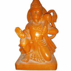 Jaipurcrafts Multicolor White Marble Orange Hanuman Statue