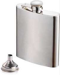 Stainless Steel Hip Wine Bottle Alcohol Beverage Holder (210 Ml) With Funnel